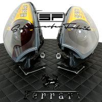 Scheinwerfer-Lackierung - Ferrari California 30 T Spyder - Schwarz Farbe