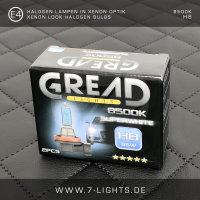 2x GREAD Silverline Halogen-Lampe Xenon-Optik 8500k H4