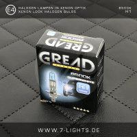 2x GREAD Silverline Halogen-Lampe Xenon-Optik 8500k H7