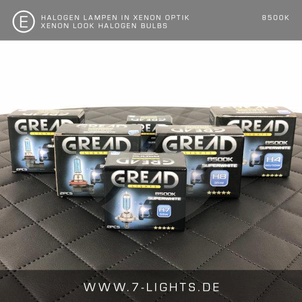 2x GREAD Silverline Halogen-Lampe Xenon-Optik 8500k H8