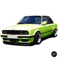Frontspoiler Lippe vorne Spoiler unten Schwarz 82-94 passend für BMW alle E30