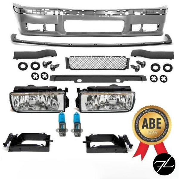 Stoßstange SPORT+*ABE*+GT Lippe+ Nebel Chrom passt für BMW E36 M3 M alle Modelle