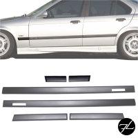 Türleisten SET Schwarz Zierleisten passt für BMW E36 Limousine Touring Serie & M-Paket