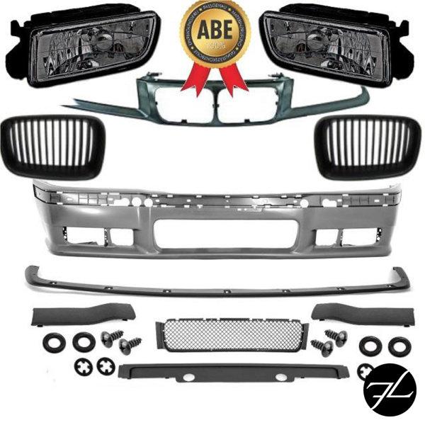Stoßstange vorne + Grill +Nebel Smoke+Grillhalter passt für BMW bj.91-96 auch M3