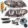 FACELIFT Scheinwerfer Schwarz Set 3U LED Angel Eyes + Blinker passt für BMW 3er E46 01-05 Limousine Touring