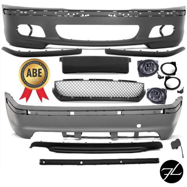 LIMOUSINE Bodykit Stoßstange Front +Heck passt für BMW E46 nicht M Paket II+ABE*