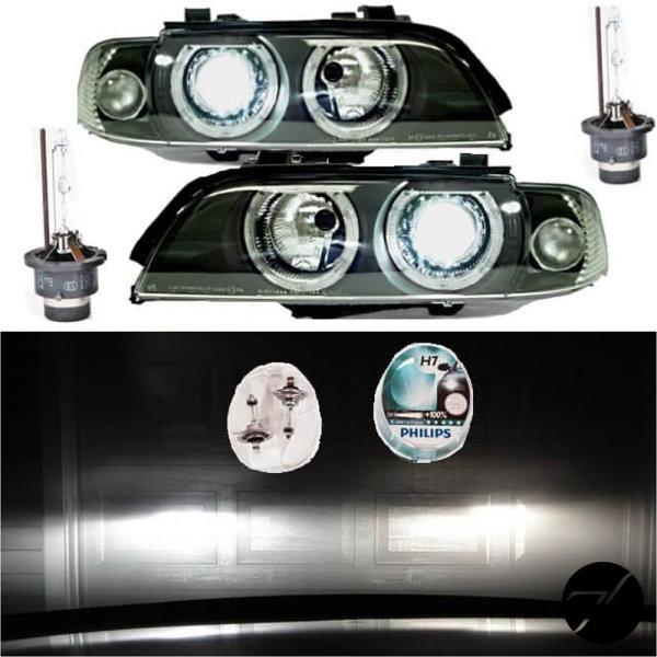 Angel Eyes Scheinwerfer Set D2S Facelift BI Xenon PHILIPS passt für BMW E39 95>