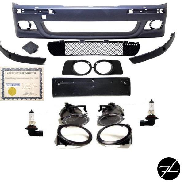 Stoßstange vorne grundiert passt für BMW E39 nicht Serien M5 aus ABS+Nebel Chrom