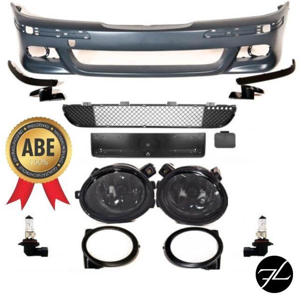 STOßSTANGE vorne grundiert+ Set Nebel Schwarz passt für BMW E39 M-Paket M5 +ABE*
