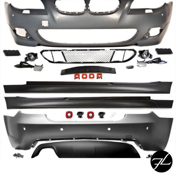 Umbau Stoßstange vorne + hinten +Seite passt für BMW 5er E60 LCI Serie & M-Paket FACELIFT+ABE