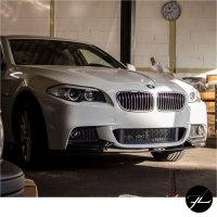 Sport-Performance Frontspoiler Lippe Spoiler vorne Schwarz Matt passt für BMW 5er F10 F11 mit M-Paket +ABE