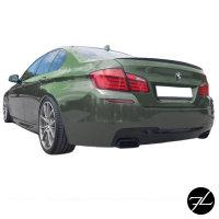 Diffusor Heckdiffusor Schwarz 4 Rohr / Oval passt für BMW F10 F11 M-Paket M550