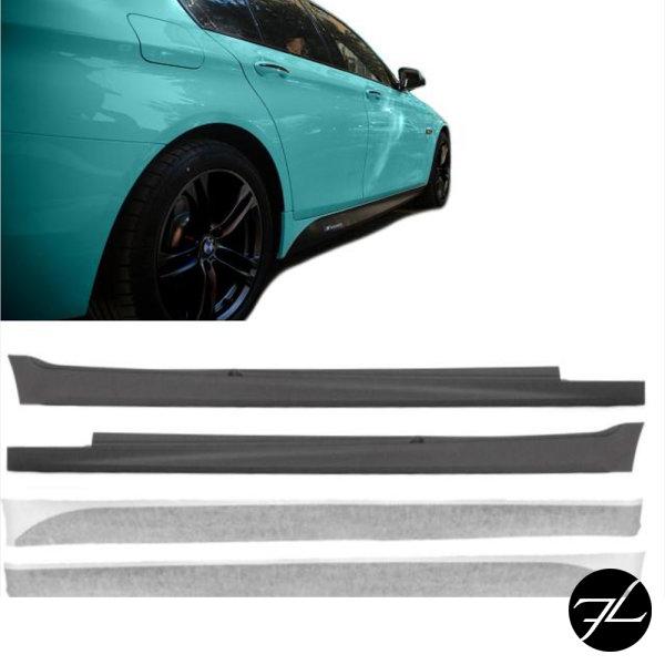 Sport Seitenschweller + Folie Schwarz Vinyl passt für BMW F10 F11 M-Paket +ABE*