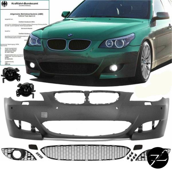 Sport Stoßstange SRA/PDC+Nebel Smoke 03-07 passt für BMW E60 E61 außer M5 +ABE*