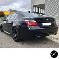 Heckdiffusor Schwarz passt für BMW E60 E61 M Paket mit Anhängerkupplung Diffusor
