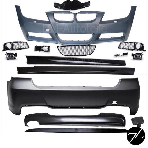 Bodykit Stoßstange Set ohne PDC passt für BMW E90 05-08 Serie oder M-Paket +ABE*