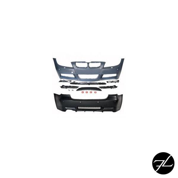 Set Sport Stoßstange Bodykit + Zubehör inkl.Nebel für SRA/PDC passend für BMW E90 05-08 Vorfacelift für M-Technik