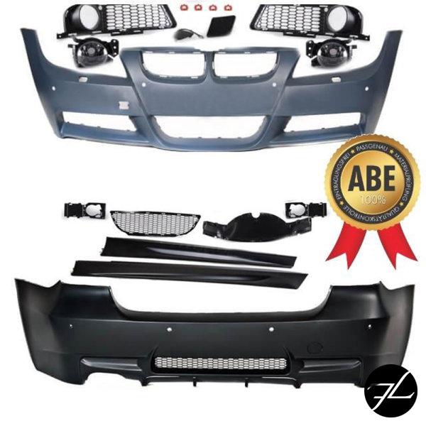 Bodykit Stoßstange ABS Komplett SRA/PDC passt für BMW E90 05-08 Serie & M-Paket