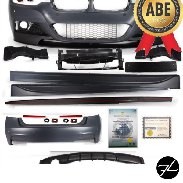 Umbau Sport-Performance Bodykit Stoßstange Front Schweller Heck + Spoiler passt für BMW 3er F30 316-320i Serie & M-Paket