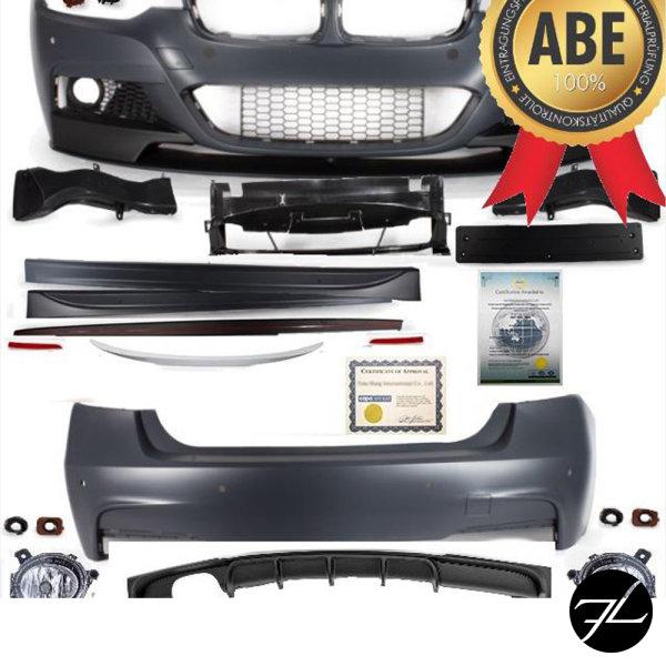 Bodykit SET Sport-Performance Stoßstange +Spoiler+Heckspoiler passt für BMW 3er F30+ABE