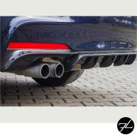Sport-Performance Heck Diffusor Schwarz 2 Rohr passt für BMW F30 F31 mit M-Paket