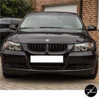 2x Doppelsteg Kühlergrill Schwarz Glänzend passend für BMW 3er E90 E91 bj. 05-08 + M M3