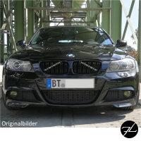 2x Kühlergrill Schwarz Hochglanz Doppelsteg passend für BMW 3er E90 E91 auch LCI 08-11 FACELIFT