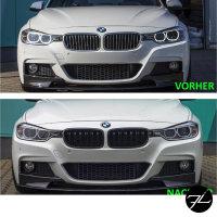 Kühlergrill Grill Schwarz Glanz Doppelsteg Sport passend für BMW 3er F30 F31 bj.11-19