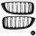 Set Kühlergrill Doppelsteg Schwarz Matt passend für BMW 4er F32 F33 F36 auch für M M4