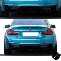 Heckdiffusor Sport-Performance passend für BMW 4er F32 F33 F36 4-Rohr Modelle nur M-Paket