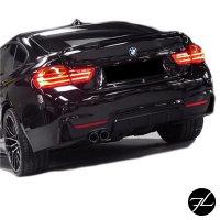 Sport-PERFORMANCE Heckspoiler Heck Spoiler grundiert passt für BMW 4er F36 Gran Coupe +ABE*
