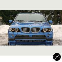 XENON SCHEINWERFER ANGEL EYES SCHWARZ +BLINKER Weiß passt für BMW X5 E53 99-03