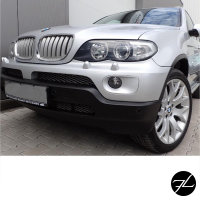 Satz Kühlergrill Chrom Titan passend für BMW X5 E53 Facelift 2003-2007 LCI +M