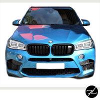 Satz Kühlergrill Schwarz Glanz Doppelsteg passend für BMW X5 F15 +X6 F16 13-17 mit Kamerasystem