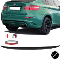 Set Heckspoiler Kofferraum Lippe Schwarz Glanz Saphir +3M passend für BMW X6 E71 08-15