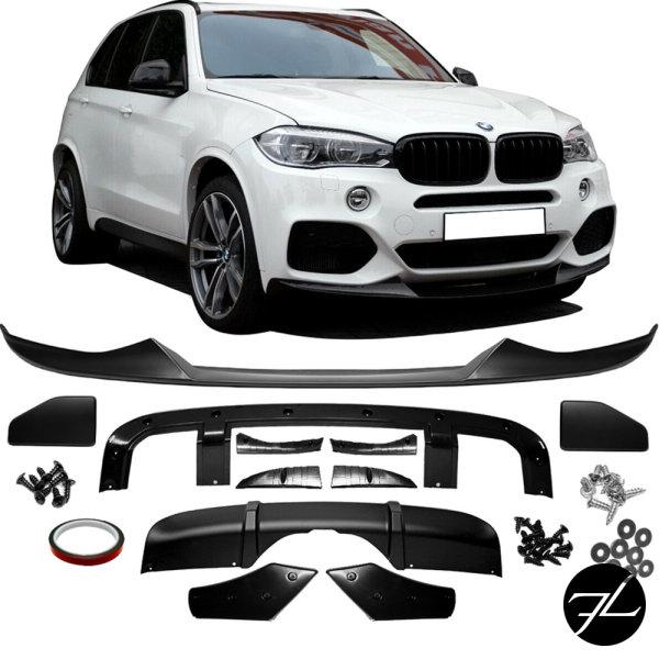 Sport-Performance SET Aero Spoiler Kit Schwarz Matt passt für BMW X5 F15 M-Paket