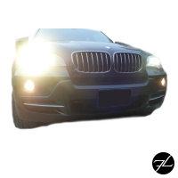 SATZ Kühlergrill Schwarz Matt passend für BMW X5 E70 06-13 + BMW X6 E71 E72 08-15