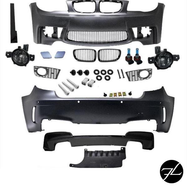 ABE *Bodykit Stoßstange vorne Heck+Nebel+ Diffusor Duplex passt für BMW 1er E81 E87