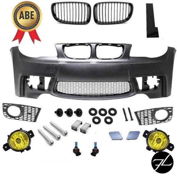 Stoßstange vorne +Nebel Gelb passt für BMW 1er E81 E82 E87 E88 bj.03-12 M + *ABE