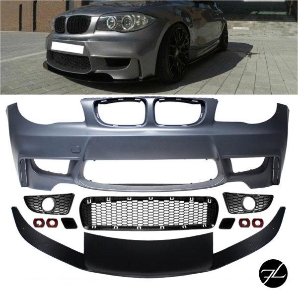 Sport EVO Stoßstange vorne Frontspoiler Lippe passt für BMW 1er E81 E82 E87 E88