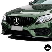 Sport-Panamericana GT Kühlergrill Grill Schwarz Glanz passend für Mercedes C Klasse W205 S205 14-18
