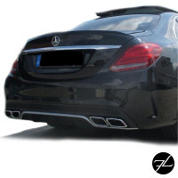 SET Heckspoiler Kofferraum ABS + 3M passend für Mercedes C-Klasse W205 14-18 C63 AMG Umbau