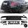 SET Heckdiffusor Schwarz Hochglanz + Blenden passend für Mercedes C-Klasse W205 Limousine 14-18 AMG Sport