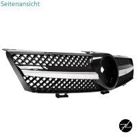 Kühlergrill Gitter Schwarz hochglanz + Chrom passend für CLS C219 W219 AMG 04-08