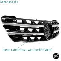 Kühlergrill Schwarz hochglanz + Chrom passend für Mercedes ML W164 05-08 Vormopf