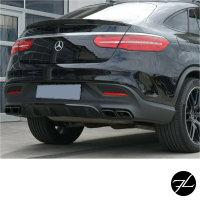 Satz Heckspoiler Kofferraum Hochglanz Schwarz +3M passt für Mercedes GLE Coupe C292 auch AMG 63 ab Bj 2015
