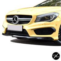 Sport Kühlergrill Schwarz Silber Wabendesign passt für Mercedes CLA W117 außer AMG 45 Bj 14-16