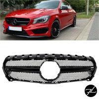 Kühlergrill Schwarz Glanz passt für Mercedes...