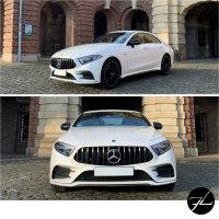 Sport-Panamericana GT Kühlergrill Chrom passt für Mercedes C257 CLS Bj ab 2018 auch Kamera