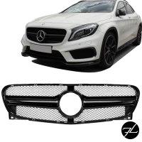 Kühlergrill Schwarz Glanz passt für Mercedes GLA X156 auch AMG Bj 13-16